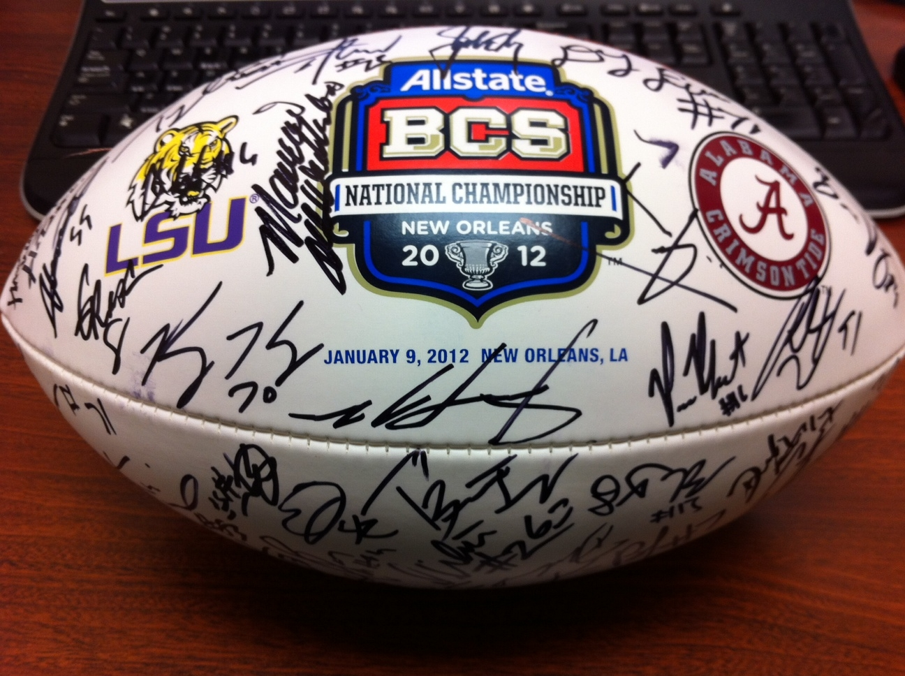 2012 Alabama Crimson Tide Team Signed