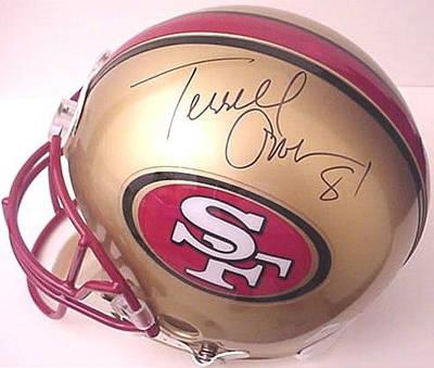 sports shoes 493e3 b0a9d Terrell Owens Autographed Mini Helmet